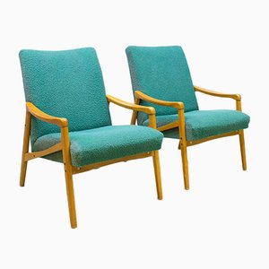 Mid-Century Modern Danish Lounge Chairs, 1960s, Set of 2