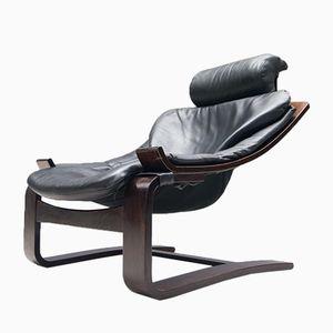 Vintage Leather Armchair by Åke Fribytter for Nelo Möbel