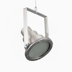 Lámpara colgante húngara Mid-Century de aluminio