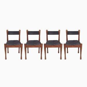 Esszimmerstühle von Silvio Coppola für Bernini, 1960er, 4er Set