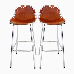 Les Arcs Bar Stools by Charlotte Perriand, 1960, Set of 2
