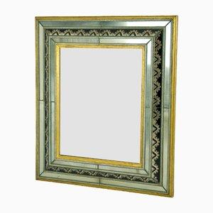 Espejo de pared italiano de cristal de Murano, años 30