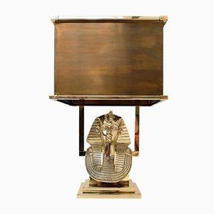 Tutankhamun Messing Tischlampe, 1970er