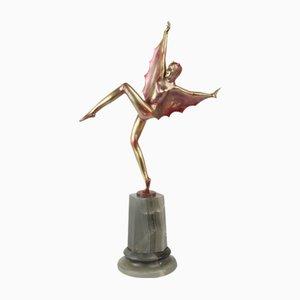 Austrian Art Deco Bronze Figurine by Josef Lorenzl, 1925