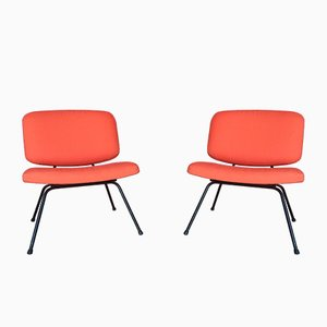 Mid-Century Peach Side Chairs by Pierre Paulin for Thonet, Set of 2