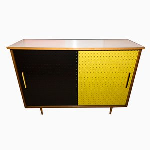 Mid-Century Cabinet with Sliding Doors from Interier Praha, 1960s