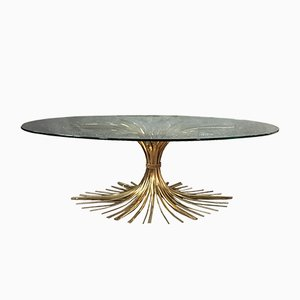 Mid-Century Wheat Sheaf Coffee Table