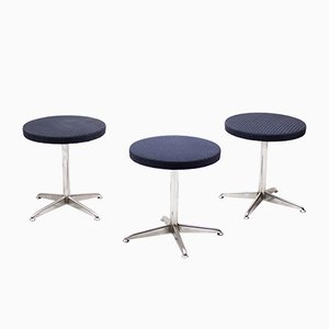 Dutch Mid-Century Modern Stools from Brabantia, Set of 3