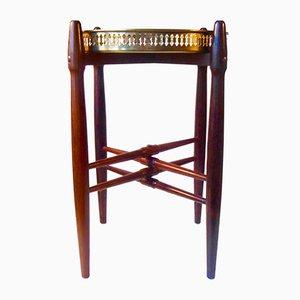 Table d'Appoint Vintage en Palissandre et Laiton par Poul Hundevad pour PJ Møbler, Danemark, 1958