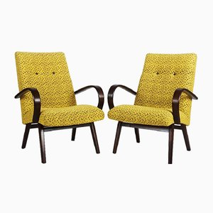 Mid-Century Czech Armchairs, 1960s, Set of 2