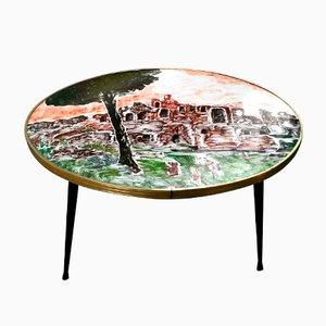 Tavolino da caffè dipinto, Italia, 1959