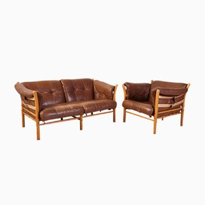 Vintage Ilona Armchair and Sofa by Arne Norell