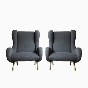 Modell Senior Sessel von Marco Zanuso für Arflex, 1951, 2er Set