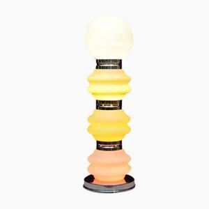 Lámpara de pie escultural era espacial de vidrio de Mazzega, años 70