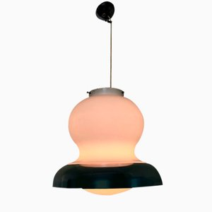 Lámpara colgante italiana Mid-Century curvada, años 70