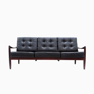 Danish Vintage 3-Seater Leather Sofa