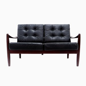 Danish Leather 2-Seater Sofa