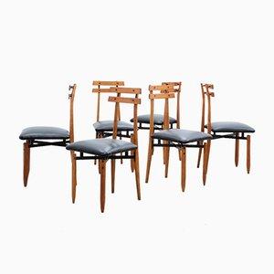 Chaises de Salon Mid-Century par Aloi Roberto, Set de 6