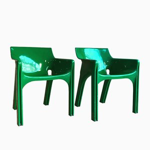 Vintage Gaudi Chairs by Vico Magistretti for Artemide, Set of 2