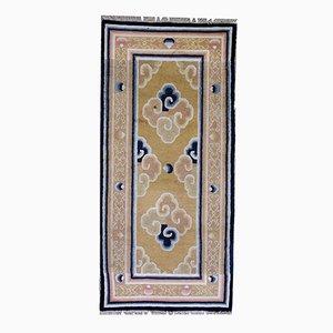 Antiker Chinesischer Handgeknüpfter Ningxia Teppich, 1880er