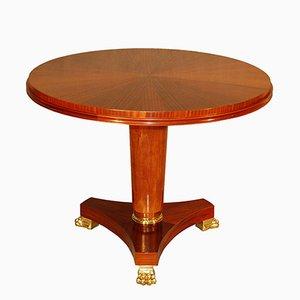 Mesa con pedestal y pies de garra, años 40