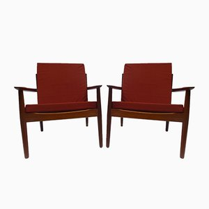 Easy Chairs by Arne Vodder for Glostrup, 1960s, Set of 2