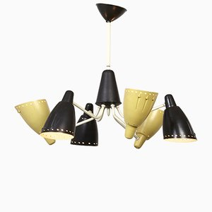 Lámpara de araña de H. Busquet para Hala, años 50