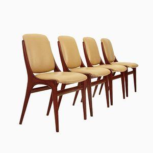 Italienische Mid-Century Esszimmerstühle, 1960er, 4er Set