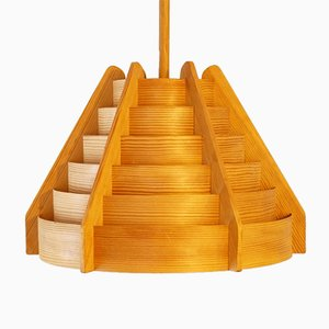 Mid-Century Wooden Pendant from Hans Agne Jakobsson