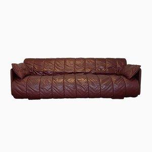 Sofá cama suizo de cuero de de Sede, años 70