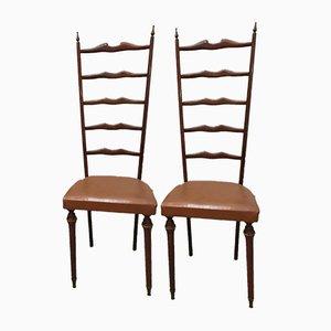 Chiavari Stühle mit Hoher Rückenlehne, 1950er, 2er Set
