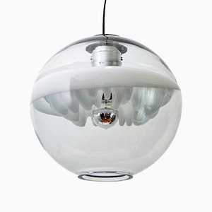 Lampada a sospensione Space Age scultorea di Toni Zuccheri per Venini, anni '70