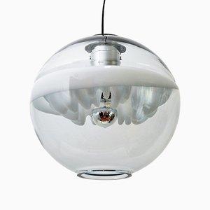 Lámpara colgante escultural era espacial de Toni Zuccheri para Venini, años 70