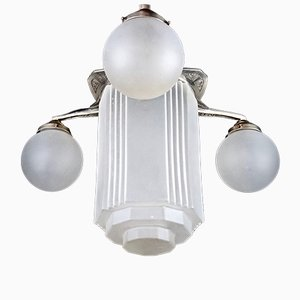 Lámpara de techo Skyscraper francesa Art Déco