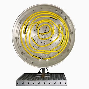 Große Prototyp Neon Tischlampe von Chris Bracey, 2010