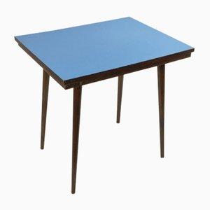 Table Basse Mid-Century en Hêtre & Formica Bleu de Tatra Nabytok, République Tchèque