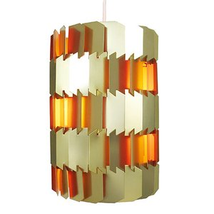 Golden Facet Pendant Light by Louis Weisdorf for Lyfa, 1960s