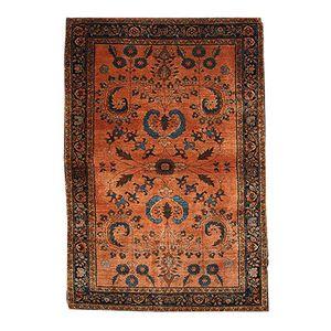 Handgearbeiteter antiker nahöstlicher Sarouk Mahadjeran Teppich, 1910er