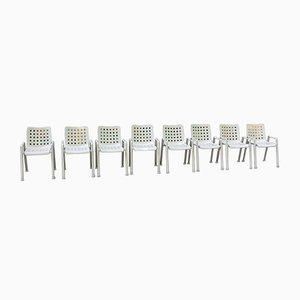 Vintage Industrie Landi Stühle von Hans Coray für MEWA, 8er Set