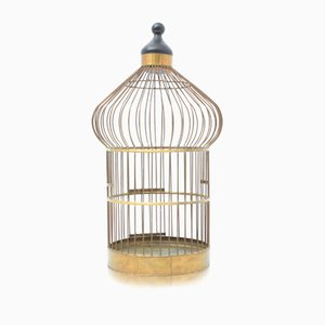 French Vintage Bird Cage in Brass