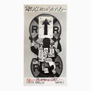 Póster de una exposición de Robert Rauschenberg para Lucio Amelio, 1987