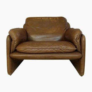 Swiss DS61 Leather Easy Chair from De Sede, 1960s