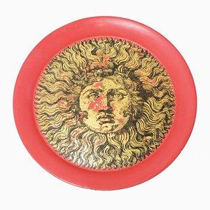 Piatto grande Sole ricciuto di Piero Fornasetti, anni '50