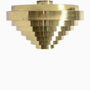 Messing Deckenlampe von Jules Wabbes, 1969