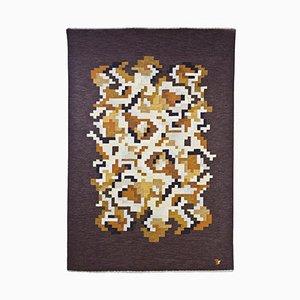 Korall Flachgewebe Teppich von Erik Lundberg für Vävaregården, 1960er