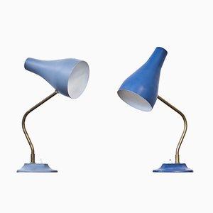 Lámparas de mesa suecas de ASEA, años 50. Juego de 2