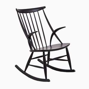 Rocking Chair IW3 par Illum Wikkelsø pour Eilersen, 1958