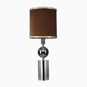 Verchromte Metall Tischlampe, 1970er