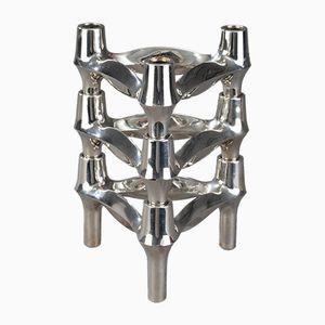 Verchromte Metall Kerzenständer von BMF, 1960er, 3er Set