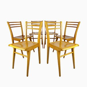 Beech Dining Chairs from Luterma, 1950s, Set of 6